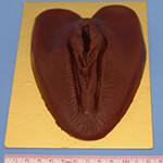 Schokoladenmuschi in Detailansicht