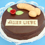 Die Lucky Dildo Cake Torte in Gesamtansicht